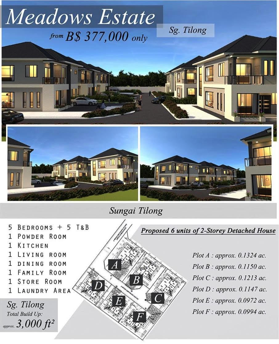 Proposed 6 units of 2-Storey Detached House in Sungai Tilong
